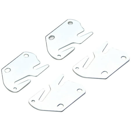 Bed Claw #10 Hook Plates for Wooden Beds, Set of 4 (Lamp Hooks Set)