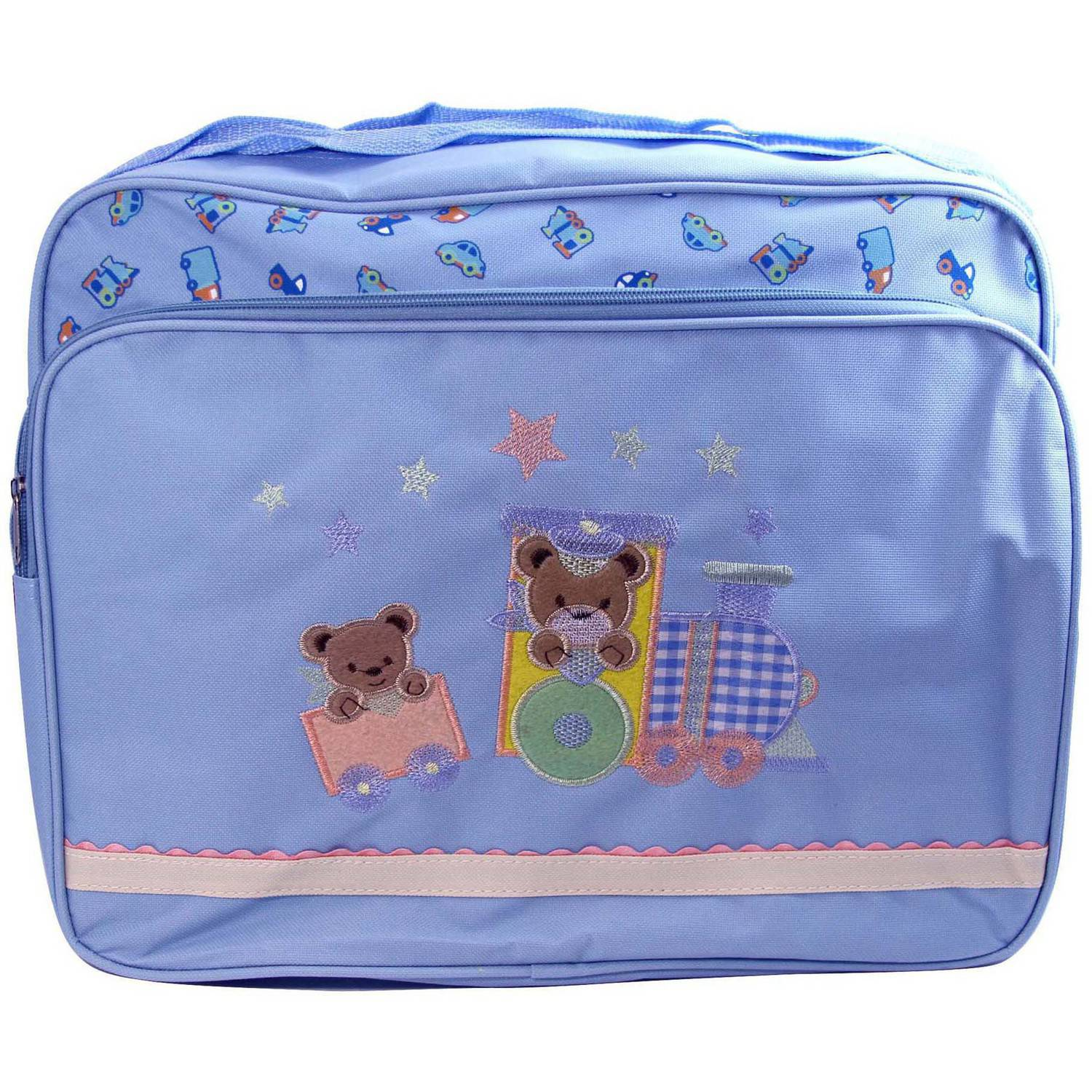 Baby Ziggles Heavy-Duty Diaper Bag, Light Blue
