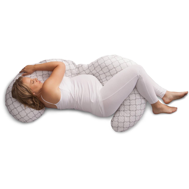 Boppy Slipcovered Pregnancy Body Pillow Trellis White