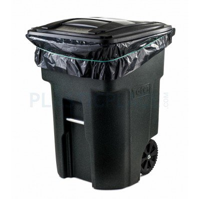 Plasticplace 95 96 Gallon Trash Bags On Rolls Black