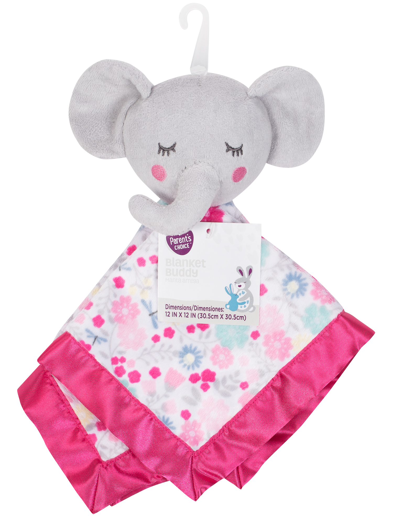 Parent's Choice Baby Security Blanket Buddy, Bella Elephant by Parent%27s Choice