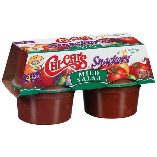 Chi-Chi's Snackers Mild Salsa Cups, 4 oz, 4 ct