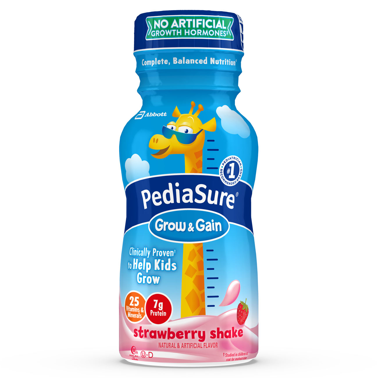 PediaSure Grow & Gain Nutrition Shake For Kids, Stawberry, 8 fl oz (Pack of 24)