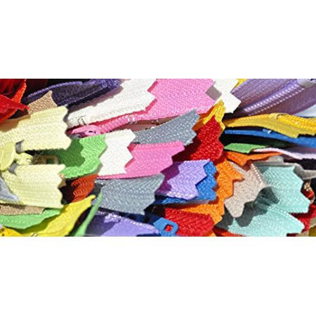 Sale Nylon Coil Zippers (Special) Assorted 40 Different Colors - YKK Number 3 Skirt and Dress- Not 1 Will Be the Same - Closed Bottom (40 Zippers/pack) Select Length (6