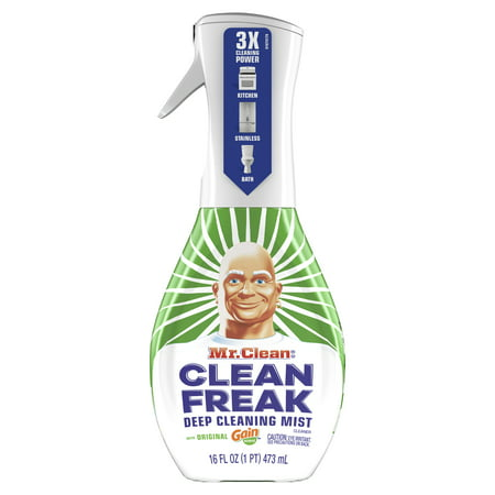 - Mr. Clean, Clean Freak Deep Cleaning Mist Multi-Surface Spray, Gain Original Scent Starter Kit, 1 count, 16 fl oz