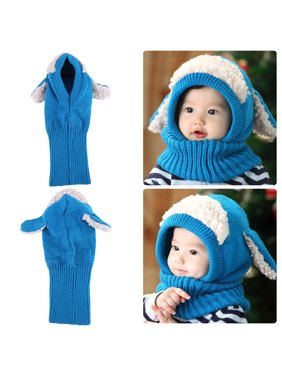 Zerone Cute Comfortable Winter Baby Hat and Scarf Joint Knitted Caps for Infant Boys Girls, Dog Style Baby Winter Hat, Newborn Baby Hat