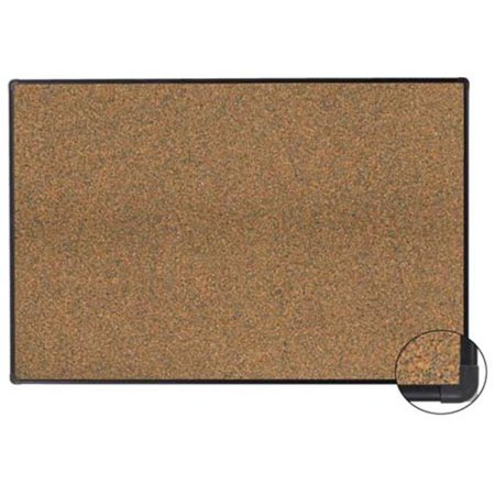 Aarco Products EFC3648 Fusion Cork Bulletin Board with Deluxe Euro Trim, 36 x 48 in.
