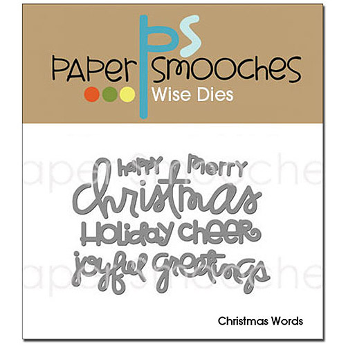 Paper Smooches Die, Christmas Words