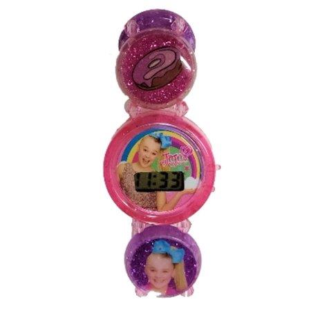 Jojo Siwa Stretch Bracelet Girls Watch  Purple W Pink Dial