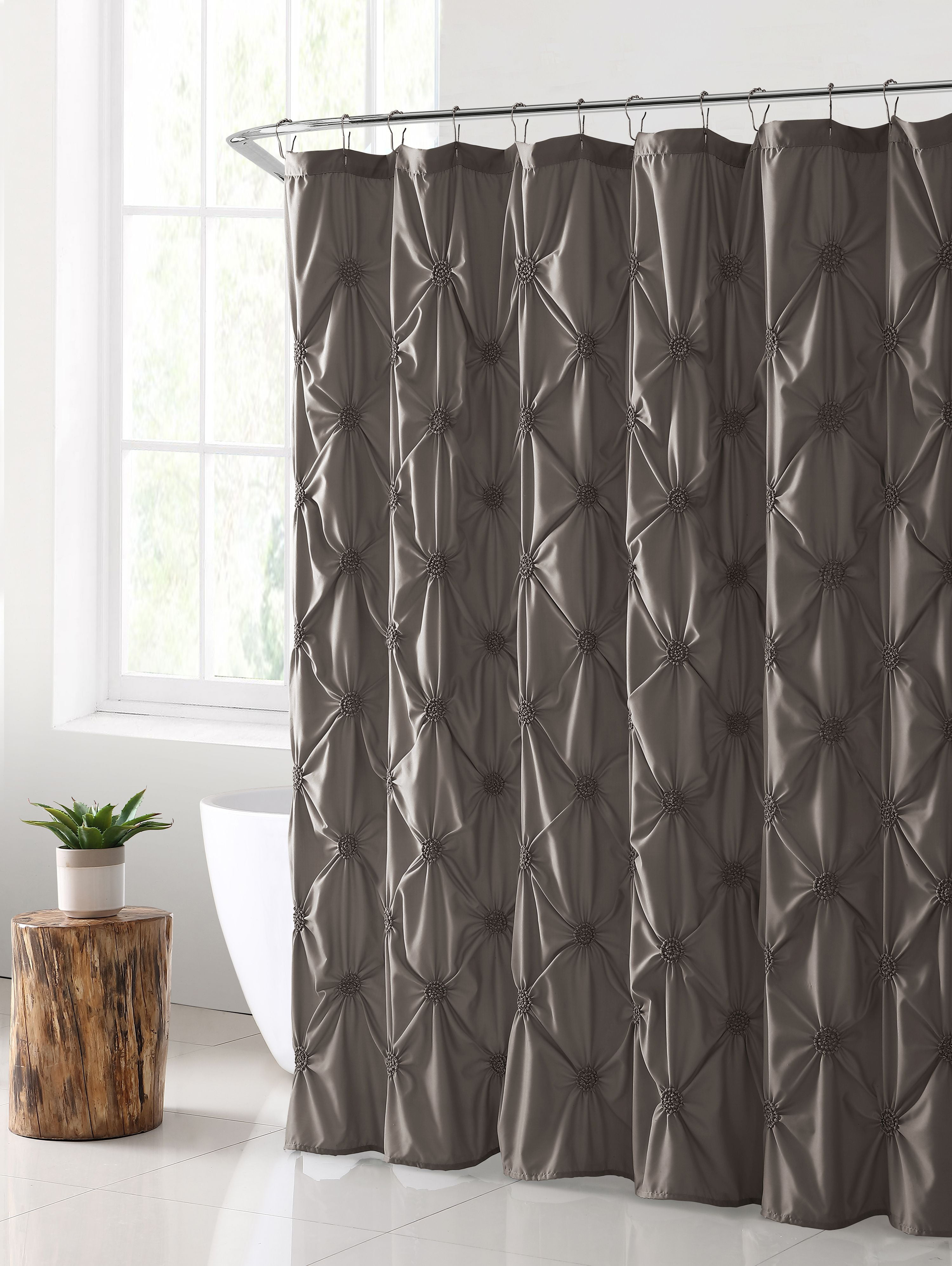 """VCNY Home Floral Burst Solid Pintuck Technique 72"""" x 72"""" Shower Curtain,... by VCNY Home"""