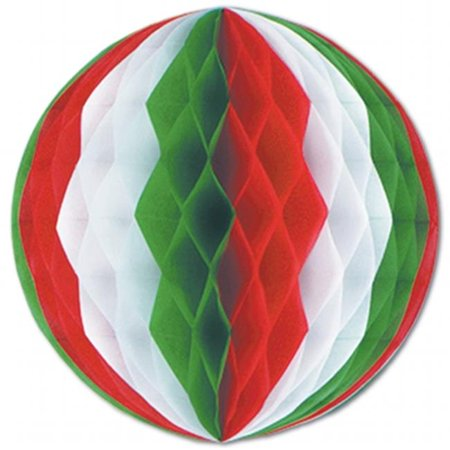 Beistle Company 55614-RWG Tissue Ball - Red, White & Green