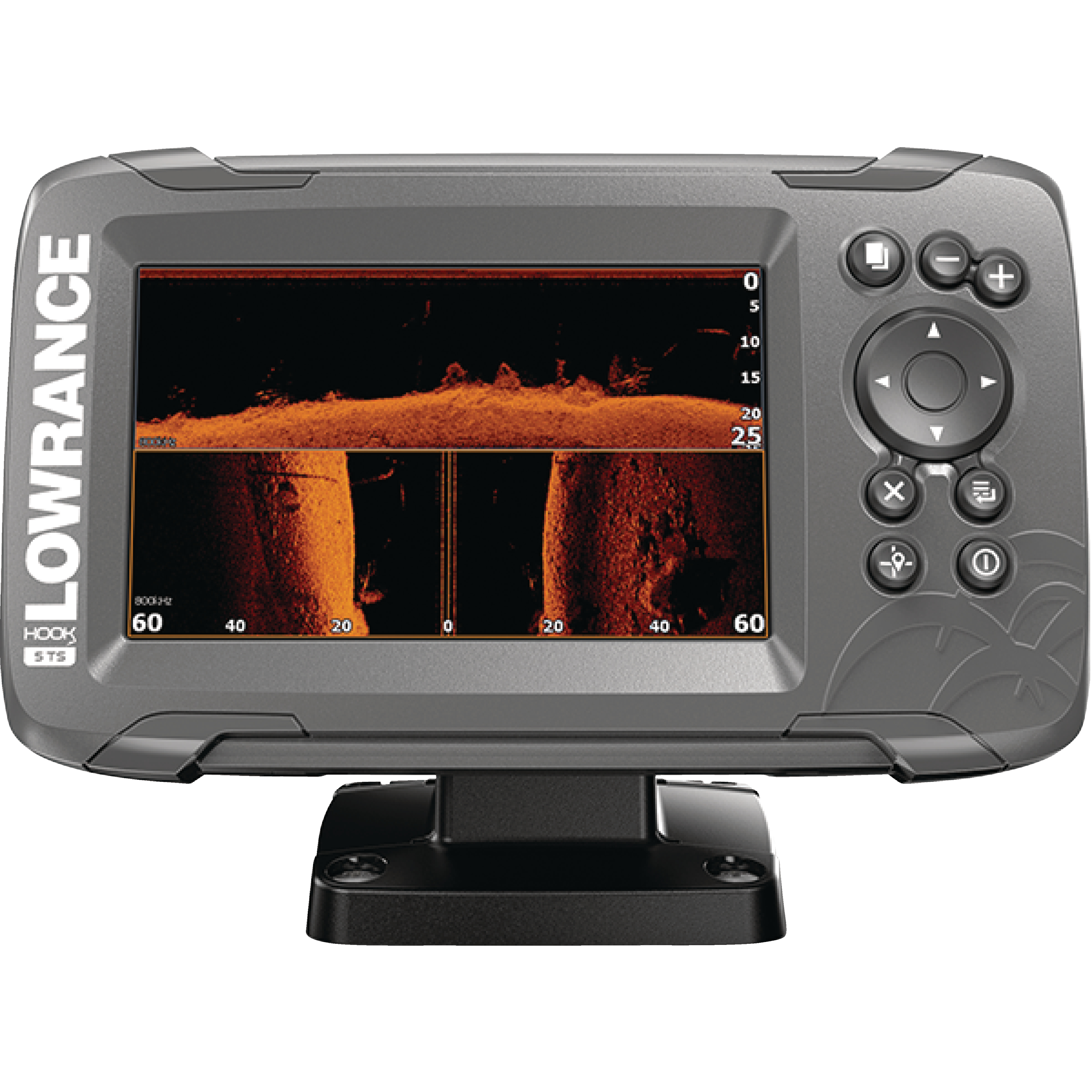 "Lowrance 000-14290-001 HOOK-2 7 Fishfinder with SplitShot Transducer, US/Canada Nav+ Maps, CHIRP, DownScan Imaging & 7"" Display"