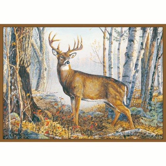 Custom Printed Rug Whitetail Deer
