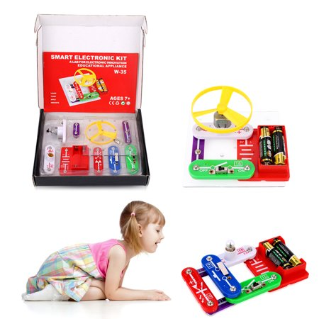 Virhuck W-35 Funny Electronics Discovery Kit Science Educational Toy Smart DIY Block Kit for Kids - Smart Toys For Kids