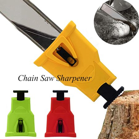 Portable Proprietary Chainsaw Saw Chain Sharpener Fast-Sharpening Stone Grinder Tools yellow 10 Stone Saw