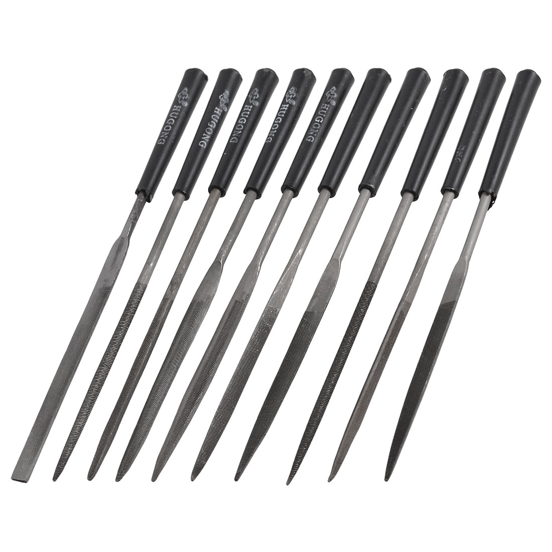 10 x Assorted Shape Shaping Carving Tool File Set 140mm for Metal Stone