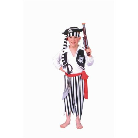 90009- S Pirate Boy White-Black Pants Costume - Size Child-Small](Boys Pirate Costume)