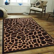 Allstar Black Woven High Quality Rug Raw Natural Animal Skin Design Area Giraffe