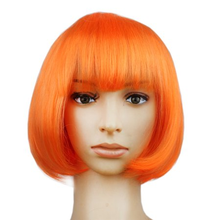 Colorful Neat Bang BOBO Hairstyle Wig for Masquerade Dress up Headdress Wear Decoration](Nicki Minaj Wig For Sale)