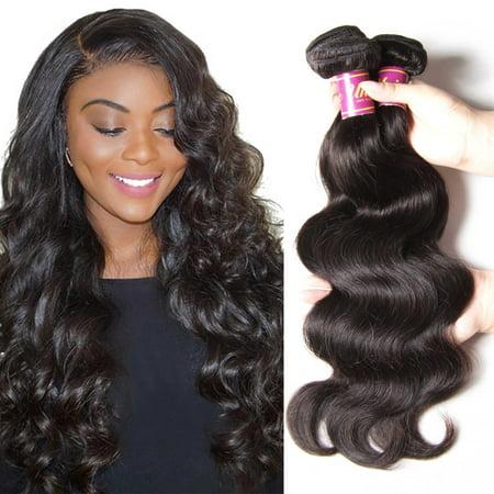 4d63af2ef Unice Hair 7A body wave Hair Weave 3 Bundles Unprocessed Brazilian Virgin  Human Hair, 26