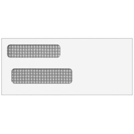 Security Lined Double Window Envelope, Self Seal