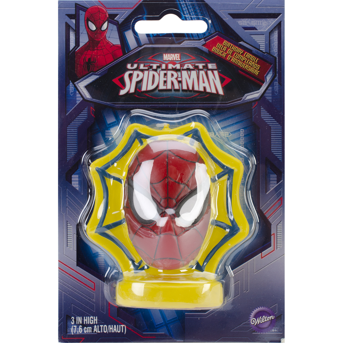 """Wilton 3"""" Candles & Cake Decorations, Spiderman 1 ct. 2811-5072"""