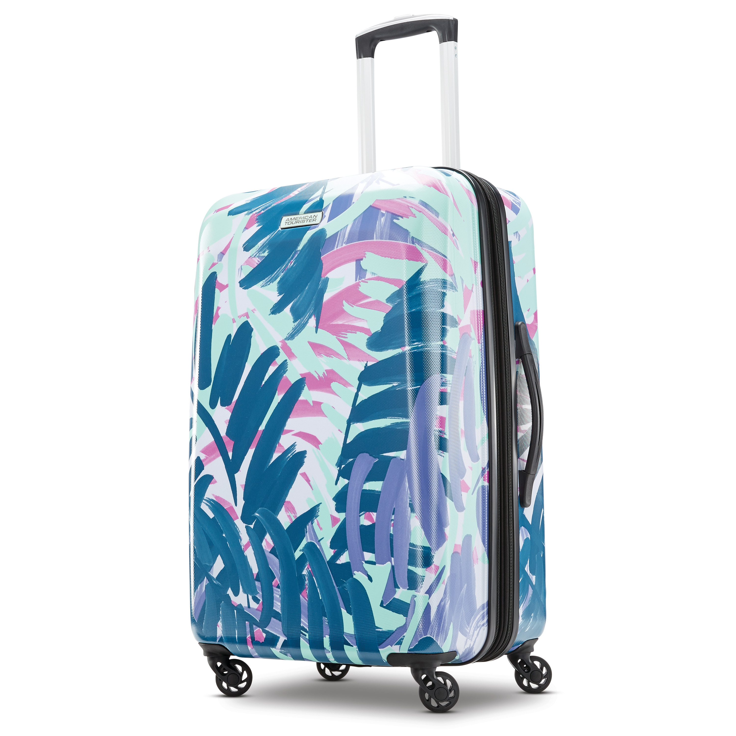 Turquoise Oil Paint Marble Traveler Lightweight Rotating Luggage Cover Can Carry With You Can Expand Travel Bag Trolley Rolling Luggage Cover