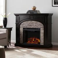 Southern Enterprises Tanaya Electric Black Fireplace