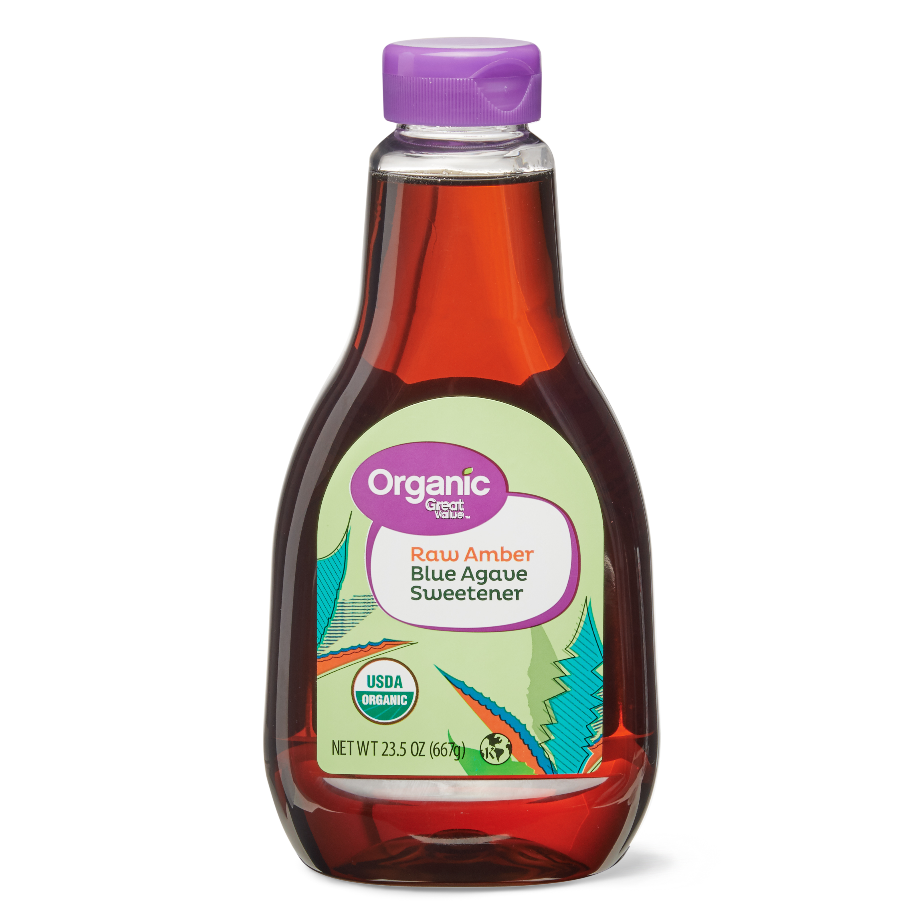 Great Value Organic Agave Amber 23.5 Oz