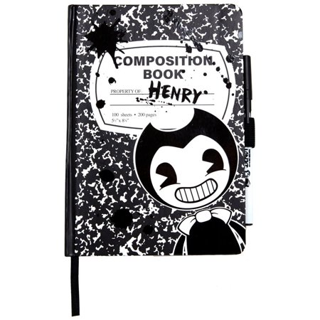 Bendy and the Ink Machine Composition Notebook & Pen](Notebook And Pen)