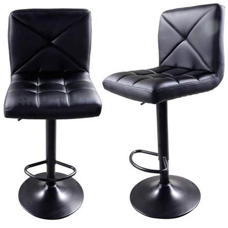 Zimtown Set of 2 Square PU Leather Barstools Height Adjustable from 24