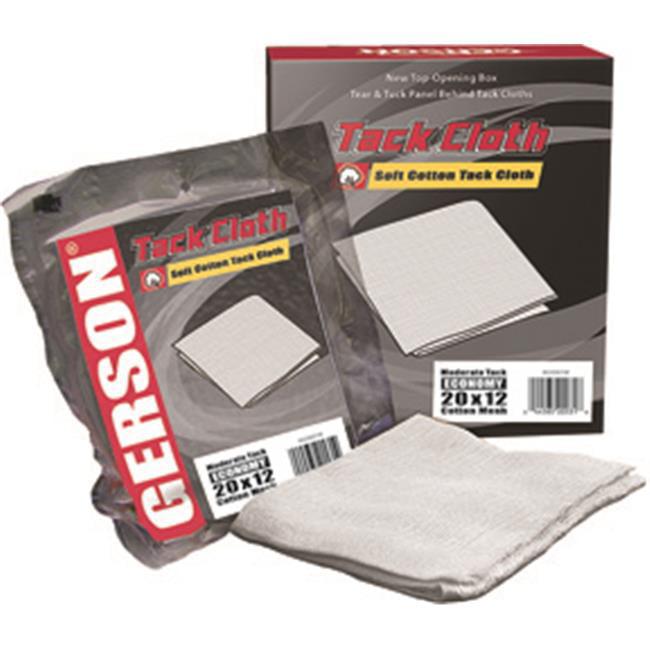 Gerson 20001W Tack Cloth- Light Tack, Economy 20 X 12 Mesh, White Cotton