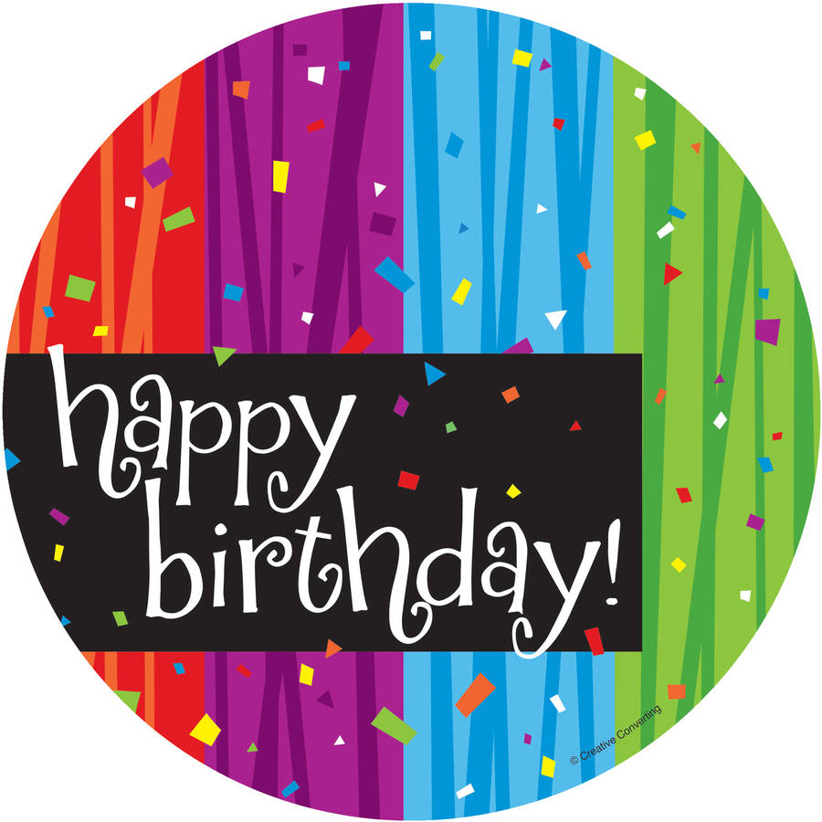 "Milestone Celebrations ""Happy Birthday"" Dessert Plates, 8pk"