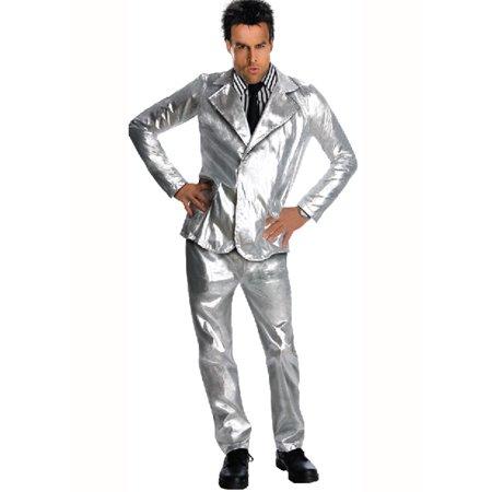 Zoolander Costume (Adult Zoolander Derek Silver Costume Rubies)