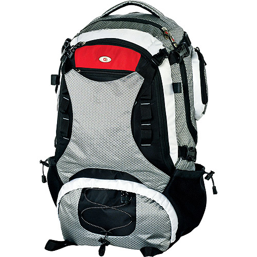 "SwissGear ""Jaeger"" Hiking Backpack, Silver and Black - Walmart.com"
