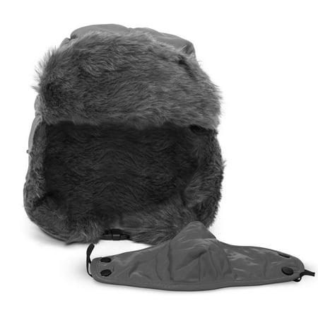 HunterBee Winter Warm Trapper Hat with Windproof Mask Waterproof Ushanka Ear Flap Chin Strap