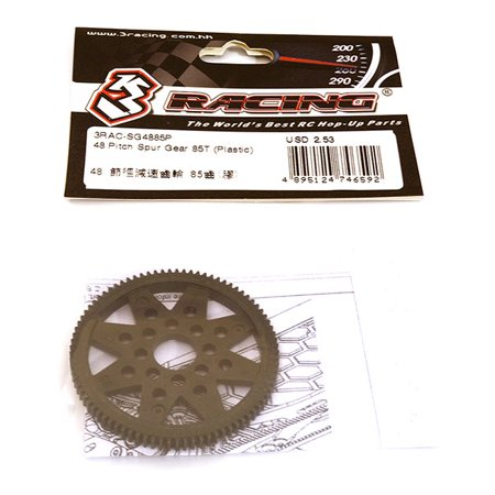 48 Pitch Gears (Integy RC Toy Model Hop-ups 3RAC-SG4885P 48 Pitch Spur Gear 85T (Plastic) )