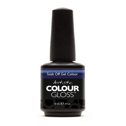Artistic Nail Design 0.5oz Soak Off Gel Colour Nail Polish Blue Shimmer, CONTEMPO, 03002