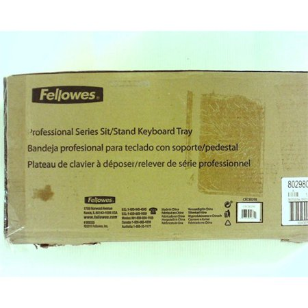 Refurbished Fellowes Professional Series Sit/Stand Keyboard Tray, Black (8029801)