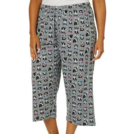 Hue Plus Frenchie Print Capri Pajama Pants Capri Nursing Pants