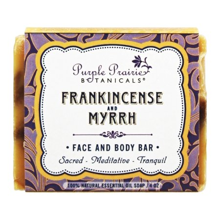 Purple Prairie Botanicals - Face and Body Bar Soap Frankincense and Myrrh -  4 oz