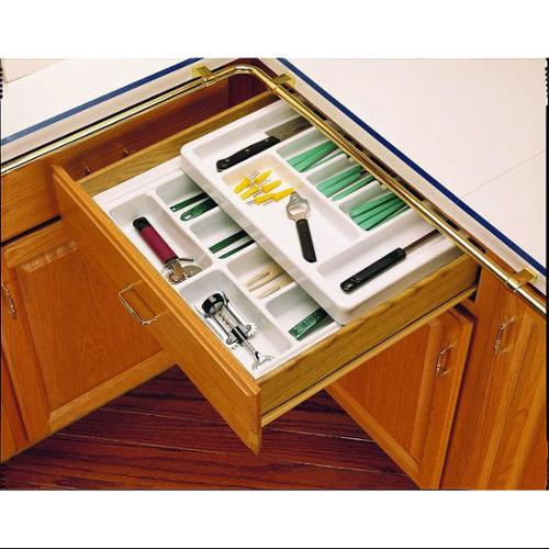 Rev-A-Shelf  RT 12-4F  Cutlery Organizers  RT  Drawer Organizers  ;Glossy White