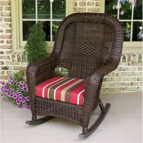 Tortuga Lexington Rocking Chair-Tortoise and Montfleuri Sangria
