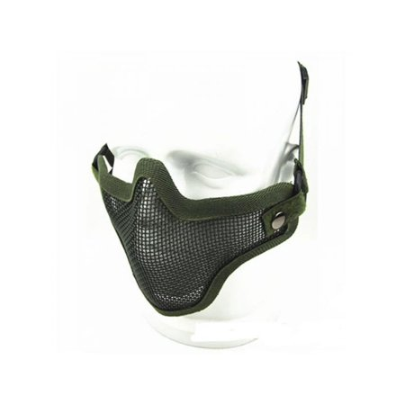 VICOODA Half Face Mask Protective Mesh Mask with Adjustable Belt Strap for Airsoft Paintball CS