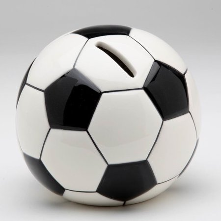 Cosmos Gifts Decorative Soccer Ball Piggy Bank