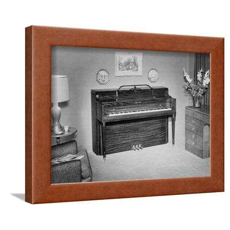 Ivers And Pond Upright Piano In Home Interior Framed Print Wall Art Beauteous Home Interior Framed Art