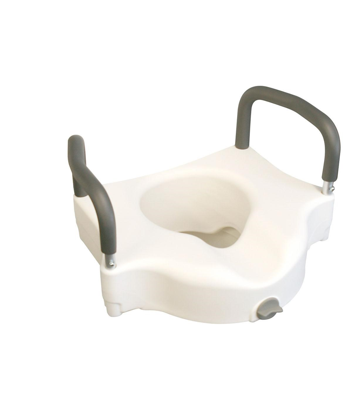 Medline Locking Elevated Toilet Seat with Arms New Microban Free Shipping