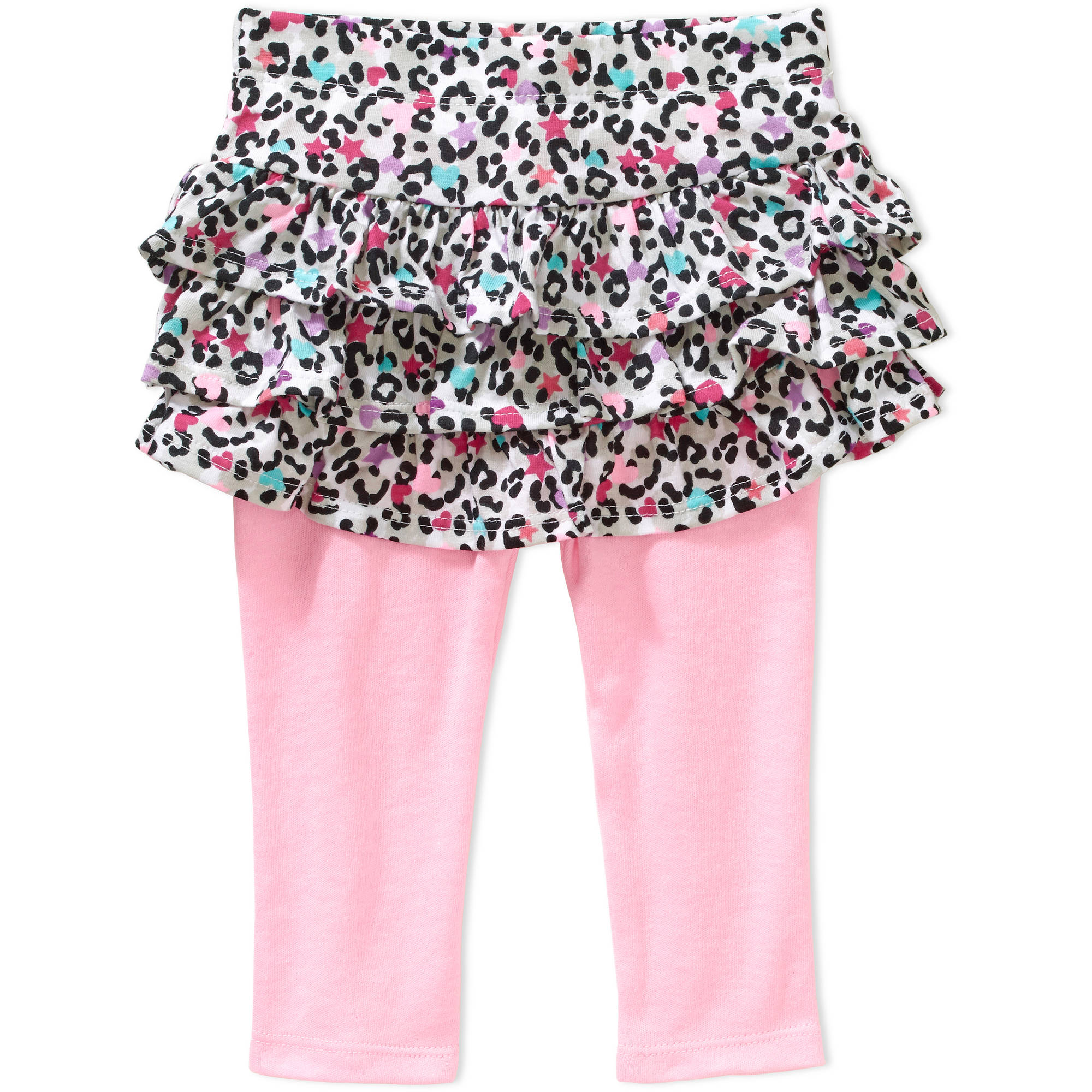 Garanimals Baby Girl Print Ruffle Skeggings