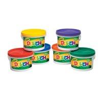 Fun Express - Crayola Dough Resealable Bucket - Basic Supplies - Art Supplies - Sculpture - 6 Pieces