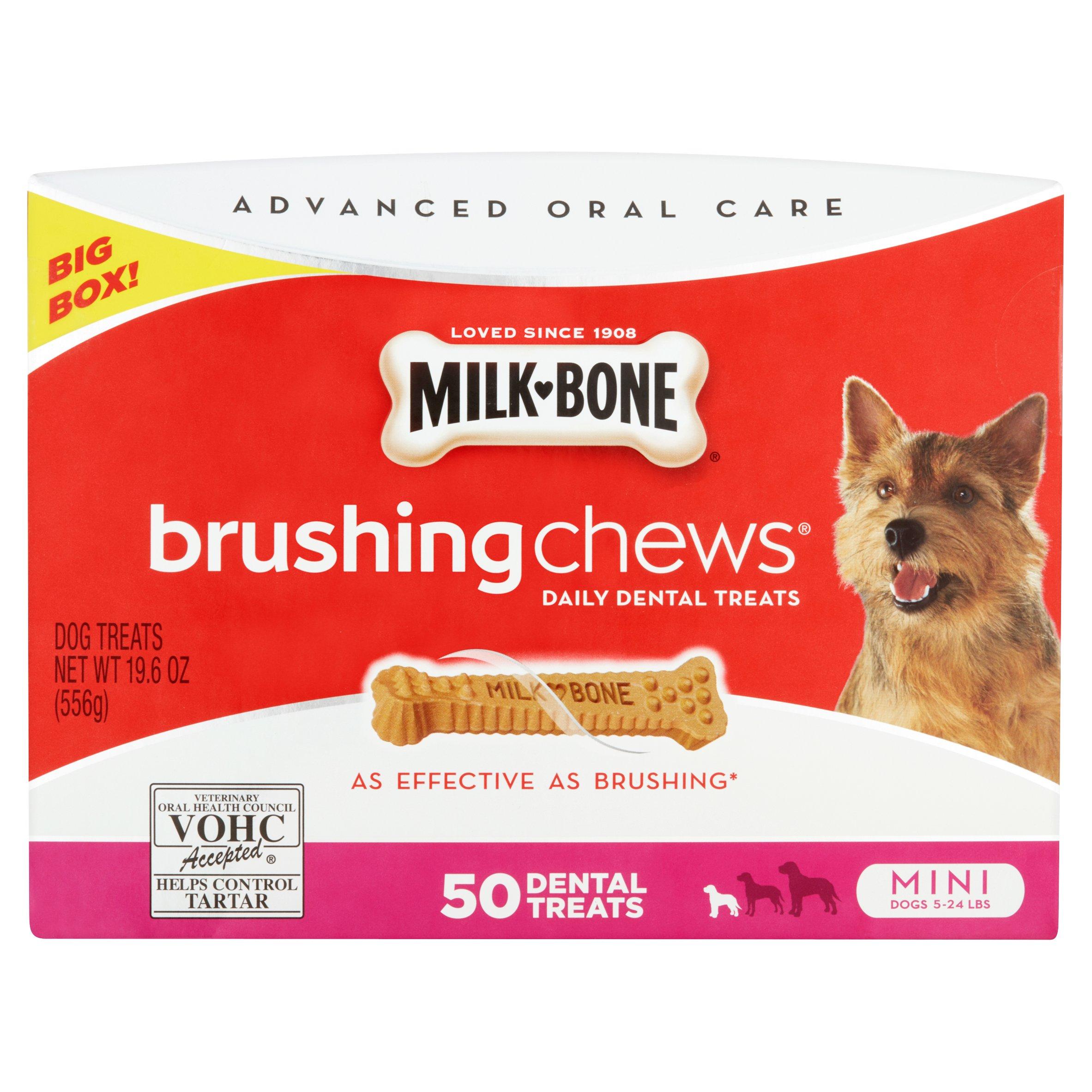 (2 Pack) Milk-Bone Brushing Chews Mini, 19.6-Ounce